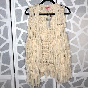 2XTREMZ Fringe Sweater Vest